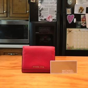 MK Coral Reef LeatherTrifold Wallet with TAG